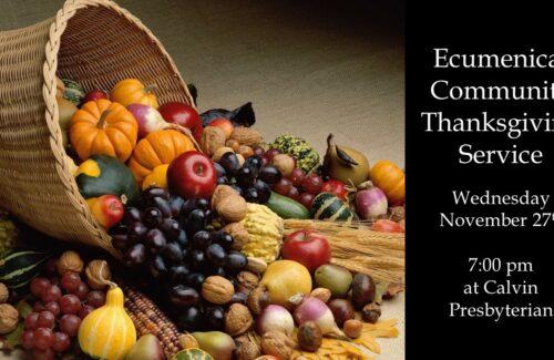 Ecumenical Thanksgiving Service