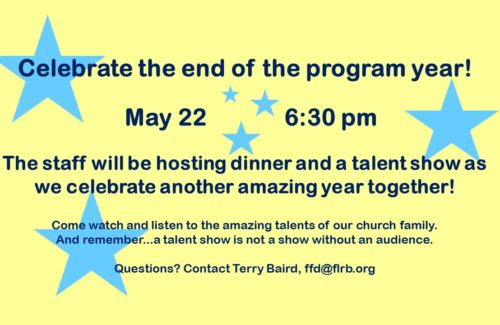 2019 End of School Year Celebration & Talent Show