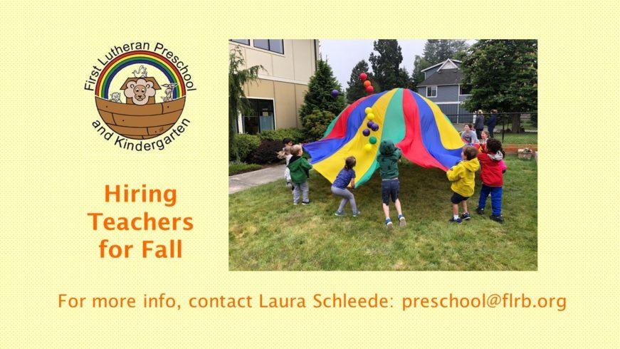Preschool Hiring