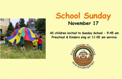 School Celebration Sunday
