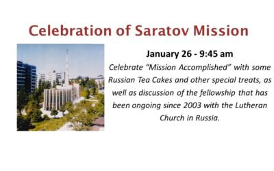 Celebration of Saratov Mission
